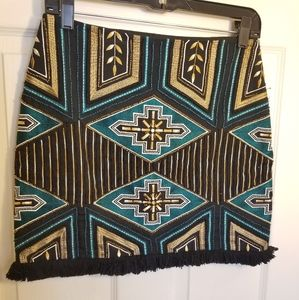 Black Embroidered and beaded skirt